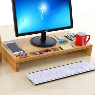 Symple Stuff Bamboo Riser Monitor Stand
