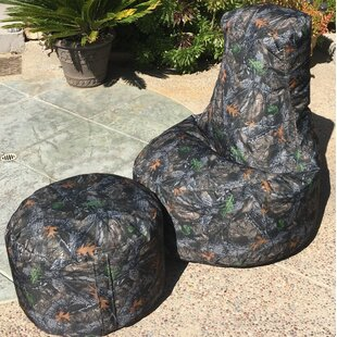 Camo Indoor/Outdoor Durable Bean Bag Set By Loon Peak