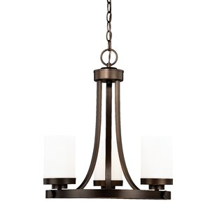 Wrought Studio Gallman 3-Light Shaded Chandelier