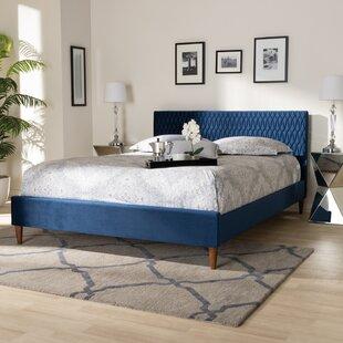 Jannie Upholstered Low Profile Platform Bed by George Oliver