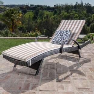Darby Home Co Roma Outdoor Wicker Armed Lounge with Cushion