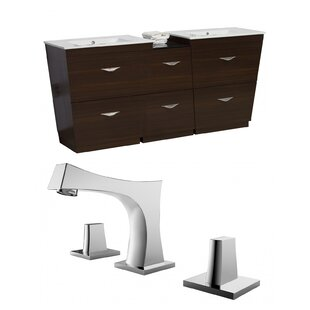 Vee 74 Double Bathroom Vanity Set