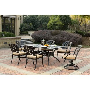 Campton 7 Piece Dining Set with Cushion