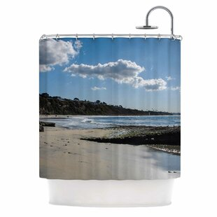 Clouds Over Swamis Beach by Nick Nareshni Single Shower Curtain By East Urban Home