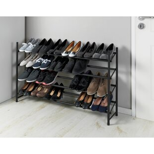 Review Anti-Slip Extendable 24 Pair Shoe Rack