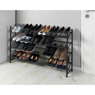Discount Anti-Slip Extendable 24 Pair Shoe Rack