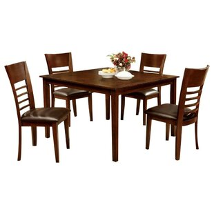 Palazzo Wooden 5 Piece Dining Set Red Barrel Studio