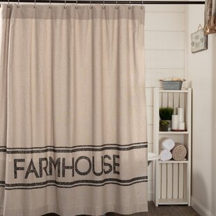 Best Reviews Surikova Farmhouse Cotton Shower Curtain ByAugust Grove
