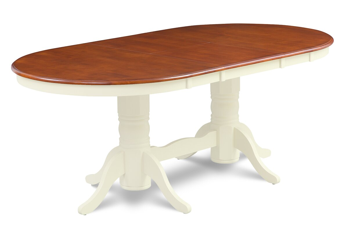 Delightful Inwood Oval Shaped Extendable Dining Table