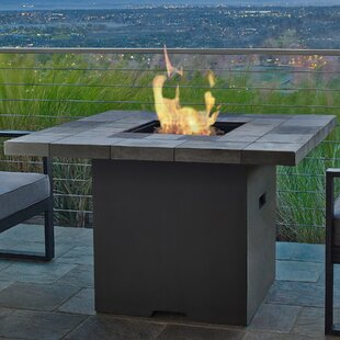 Real Flame Salida Concrete Propane Fire Pit Table