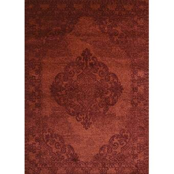 World Menagerie Hermine Oriental Tufted Rust Area Rug Reviews Wayfair