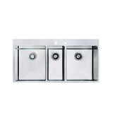 Triple Undermount Kitchen Sink 43.5-Inch Stainless Steel