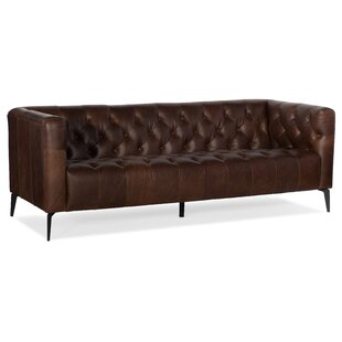 Nicolla Leather Sofa by Hooker Furniture