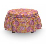 Fantasy Oriental Flowers Ottoman Slipcover (Set of 2) by East Urban Home