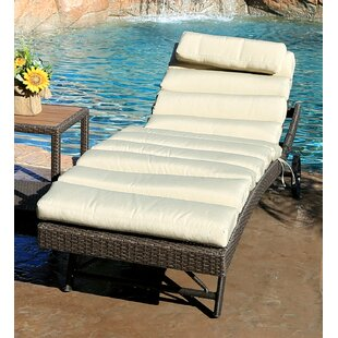 Tampa Chaise Lounge with Cushion by World Wide Wicker