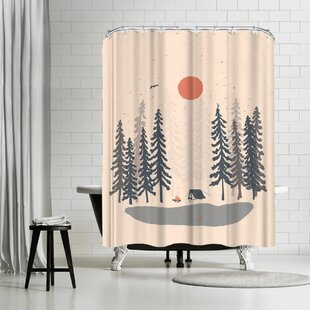 East Urban Home NDTank Feeling Small in the Morning Shower Curtain