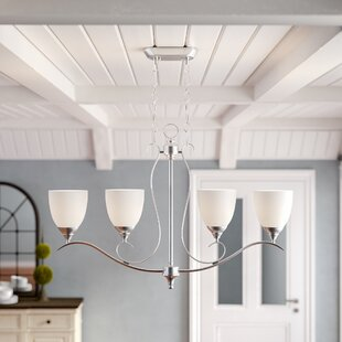Harnois 4-Light Shaded Chandelier by Lark Manor