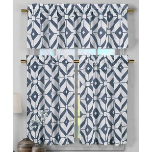 Darmstadt 3 Piece Faux Linen Kitchen Curtain Set By Ivy Bronx