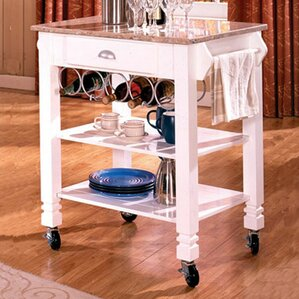 Kitchen Island with Marble Top by Bernards Best Price