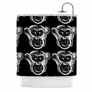Kids Monkey Shower Curtain