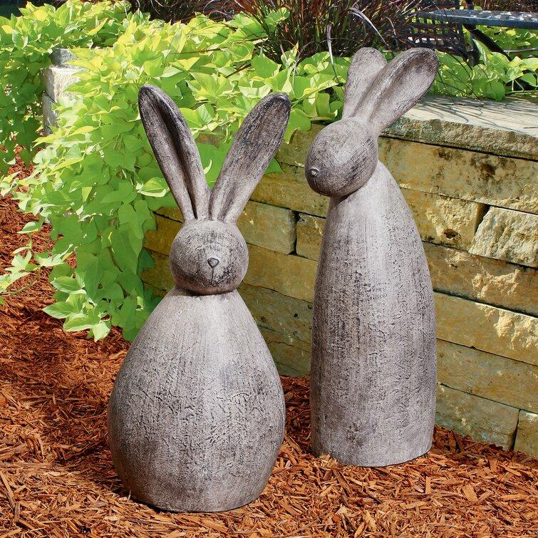 Resin Small Rabbit Animal Vivid Art Home Garden Ornament Decor A