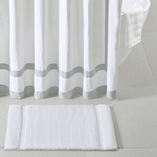 Affordable Stria Border Stripe Marshmallow Bath Rug By Madison Park Signature