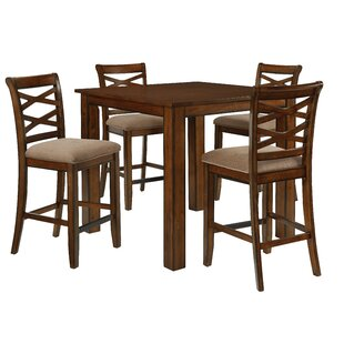 Oakley 5 Piece Counter Height Dining Set DarHome Co