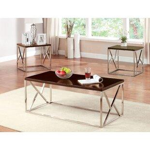 Orren Ellis Blocton 3 Piece Coffee Table Set