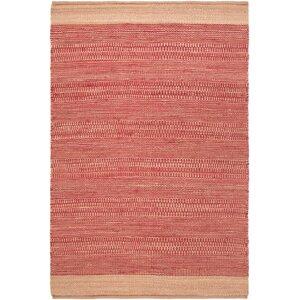 Charlemont Hand-Woven Bright Red/Khaki Area Rug
