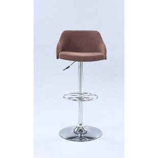 Deb Pneumatic Rolling Back Adjustable Height Swivel Bar Stool