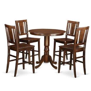 Alcott Hill Flood 5 Piece Pub Table Set