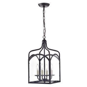 Liberty Hill Glass Lantern 4-Light Candle-Style Chandelier  sc 1 st  Wayfair & Extra Large Lantern Chandelier | Wayfair azcodes.com