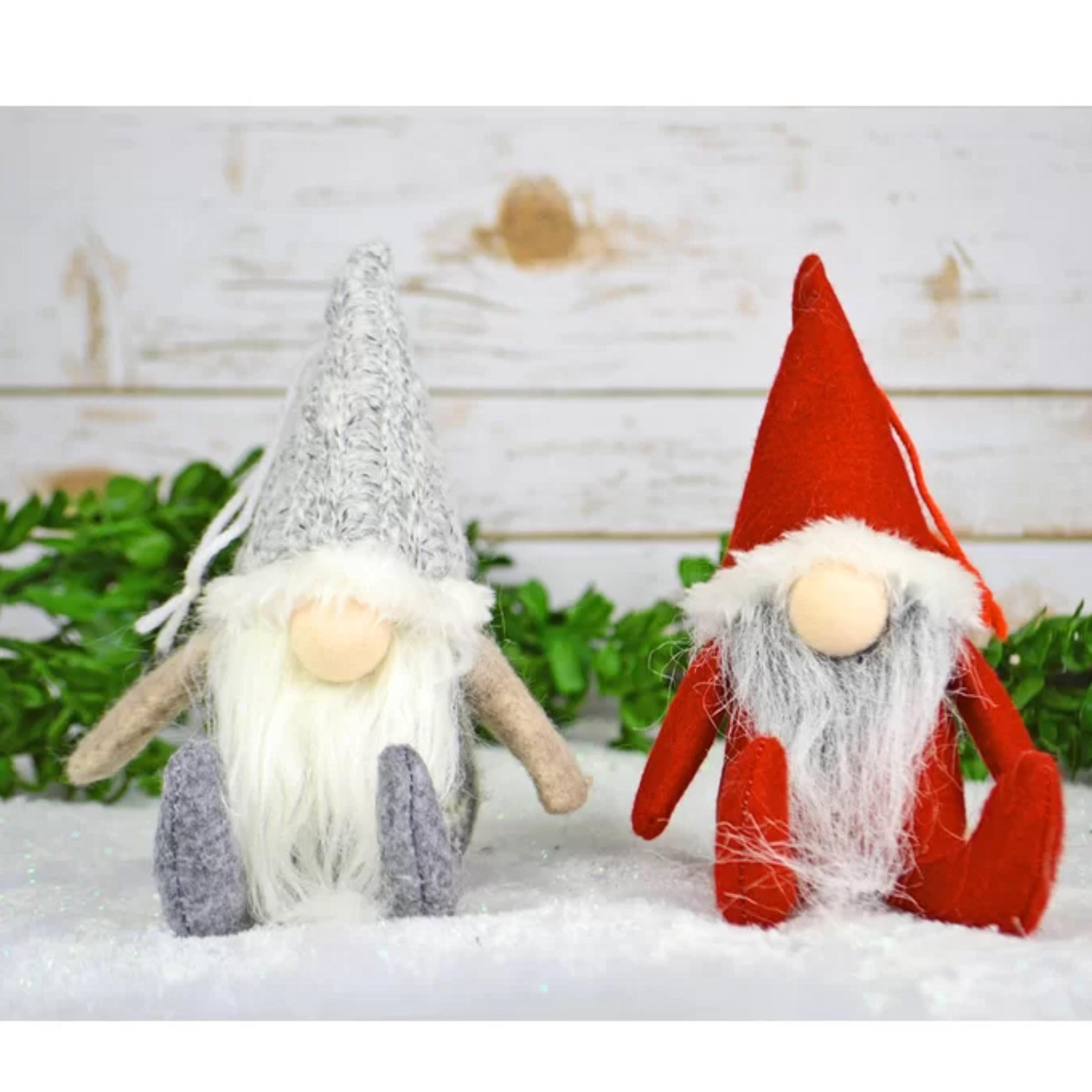 The Holiday Aisle 2 Piece Aksel Baileysmall Fabric Gnome Hanging Fugurine Ornament Set Wayfair
