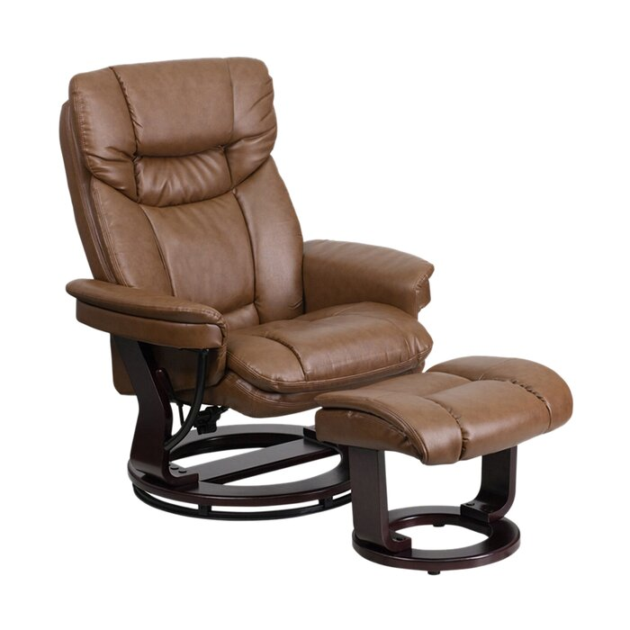 Marvelous Mateo Manual Swivel Recliner With Ottoman Dailytribune Chair Design For Home Dailytribuneorg