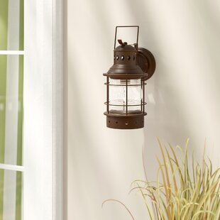 Beachcrest Home Bonaventure 1-Light Outdoor Wall Lantern