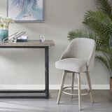 Lermitage Swivel 25.75 Counter Stool by Gracie Oaks