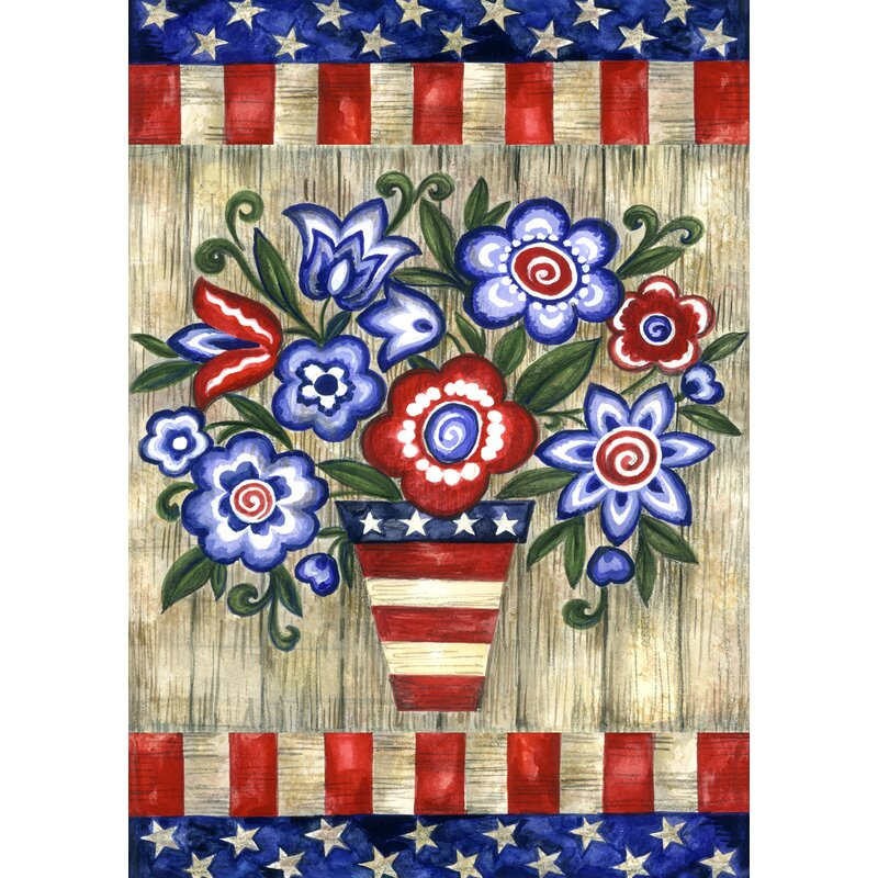 Toland Home Garden Patriotic Flowers 28 X 40 Inch House Flag Wayfair