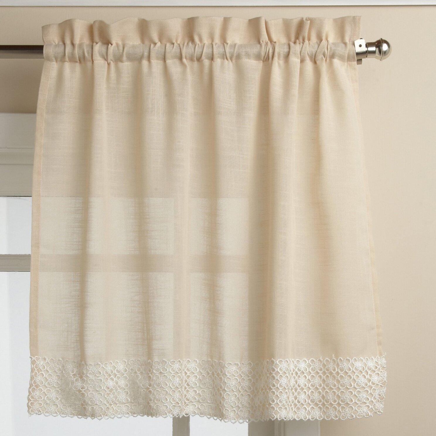 Sweet Home Collection Salem Kitchen Tier Curtain & Reviews | Wayfair.ca