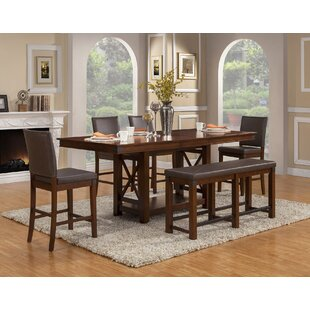 Loon Peak Wayland 6 Piece Extendable Dining Set
