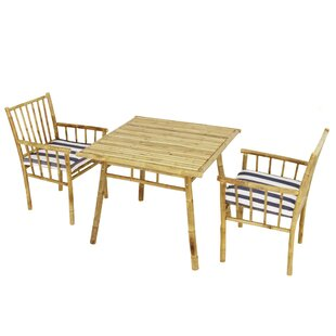 Bay Isle Home Kridia 3 Piece Bistro Set with Cushions