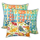 Cromford Happy Days Indoor / Outdoor Throw Pillow Cover