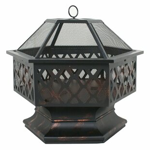Zeny Steel Wood Burning Fire Pit