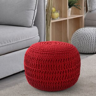 Arana Sphere Pouf by Ebern Designs