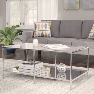 Up To 70% Off Busey Glam Mirrored Coffee Table