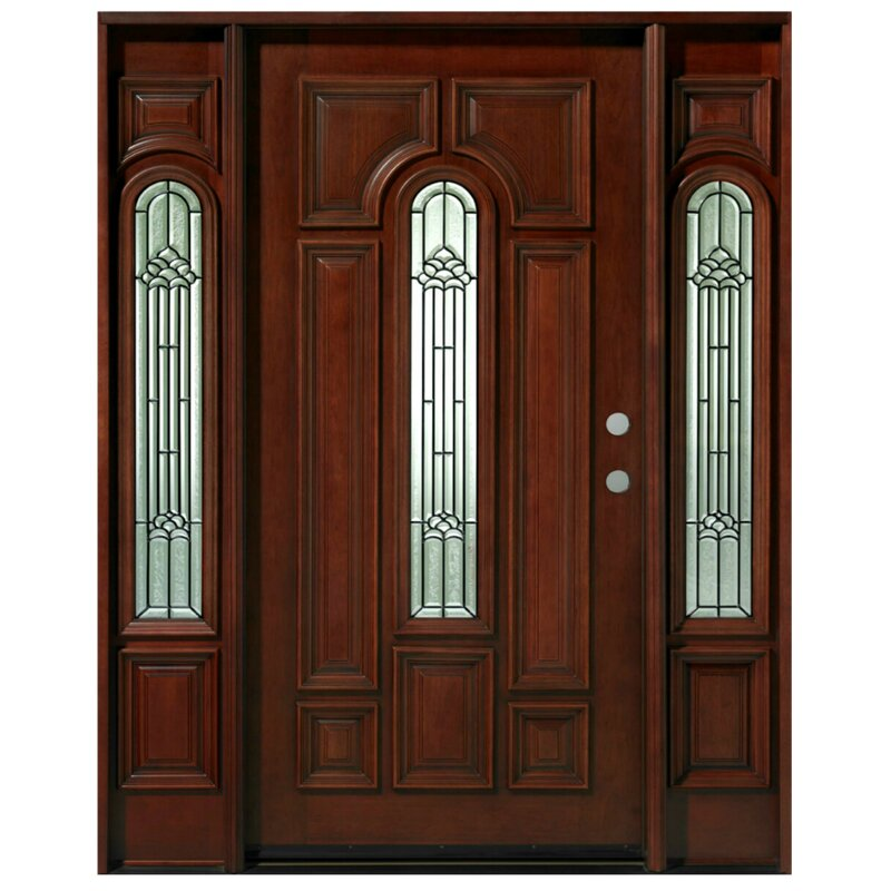 Asian Pacific Products Inc Mahogany Prehung Front Entry Doors