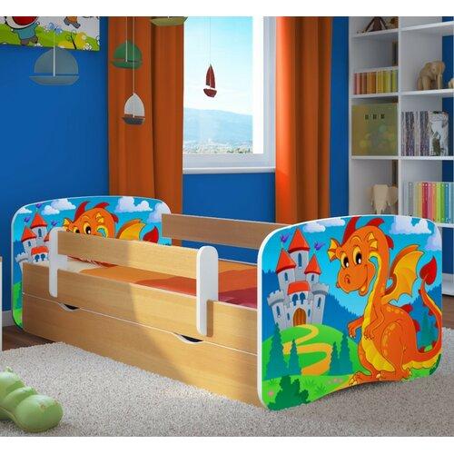 Funktionsbett Cavin mit Matratze und Schublade | Schlafzimmer > Betten > Funktionsbetten | Buche | Mdf - Holz | Roomie Kidz