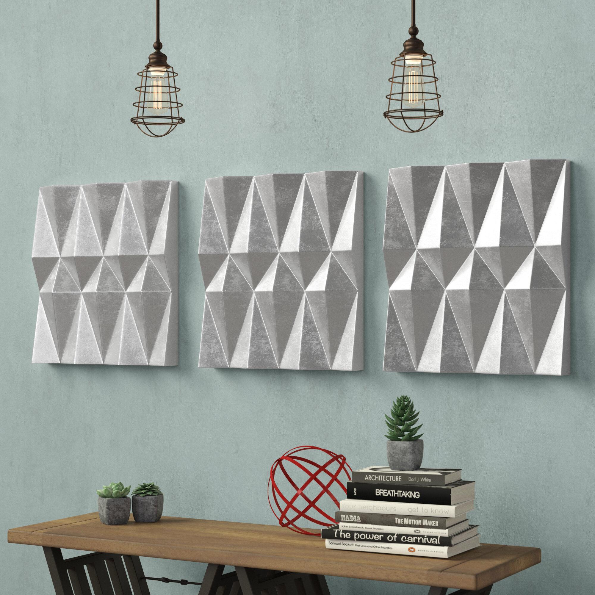 17 Stories Silver Metal Wall Decor Reviews Wayfair