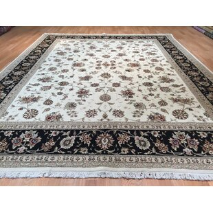 Affordable Price Drummaul Hand-Knotted Ivory/Black Area Rug ByCanora Grey