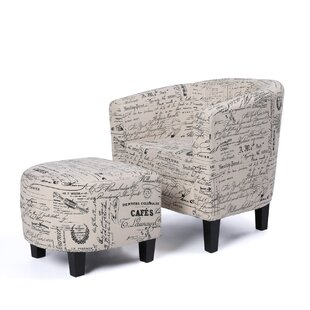 Winston Porter Fitzwater Accent Club Chair with Ottoman