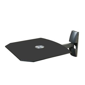 Single Wall Mount Shelf for DVD VCR Cable Box, PS3, XBOX, Stereo Blu - Ray Components by Mount-it